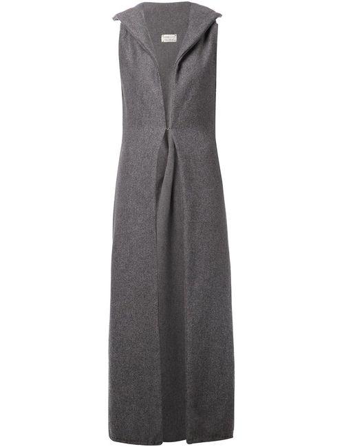 SABINE LUISE | Женское Серое Длинное Пальто Без Рукавов