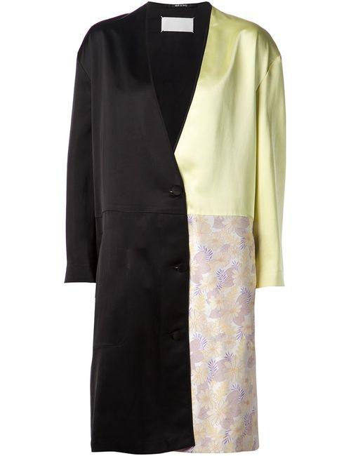 Maison Margiela   Женское Черный Пальто В Стиле Колор-Блок