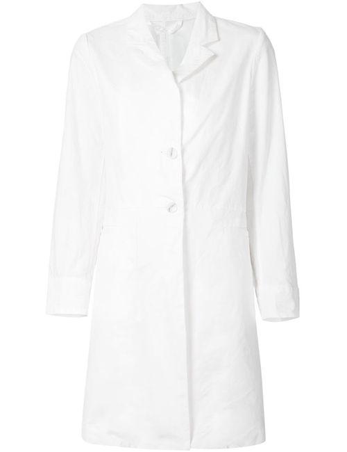 CASEY CASEY   Женское Белое Приталенное Однобортное Пальто
