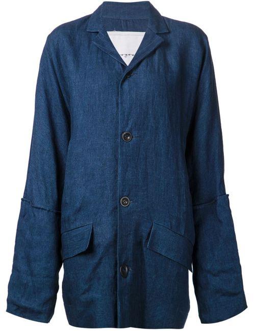 TOOGOOD | Женское Синее Объёмное Джинсовое Пальто