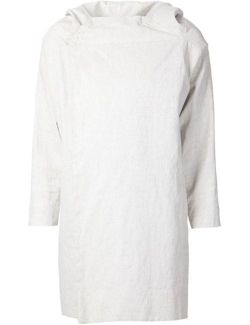 TOOGOOD | Женское Белое Двубортное Пальто С Капюшоном