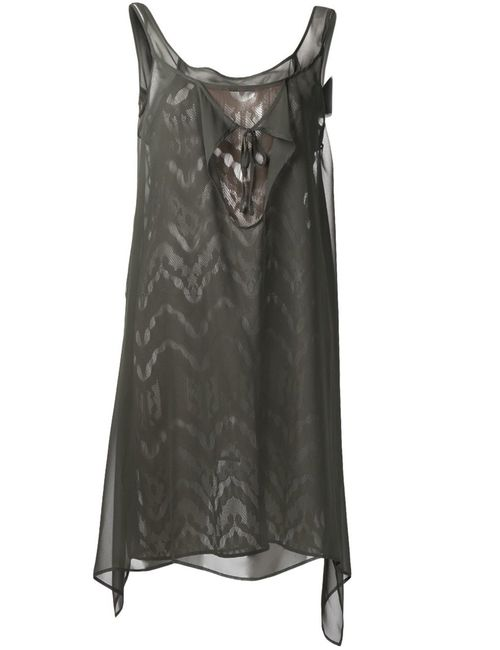 Yohji Yamamoto | Женское Зелёный Tank Top Dress