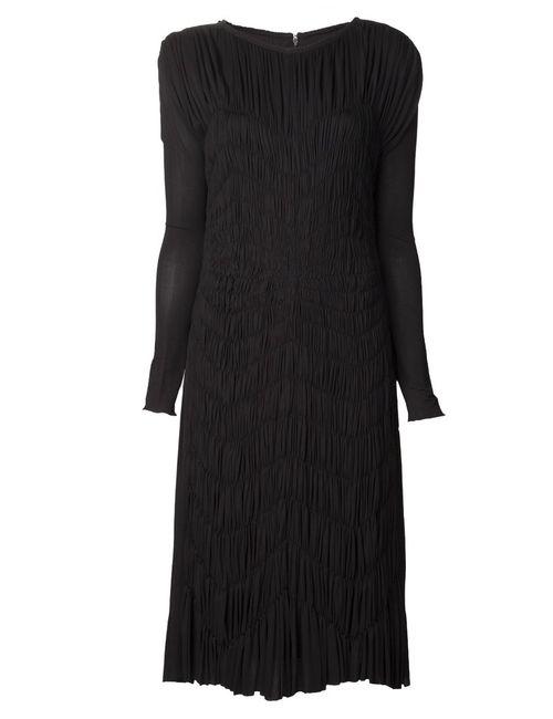 Maison Rabih Kayrouz | Женское Чёрное Платье С Узором Средней Длины