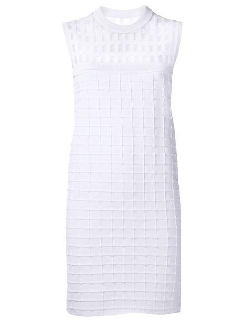 PIECE D ANARCHIVE | Женское Белое Хлопковое Платье Прямого Кроя