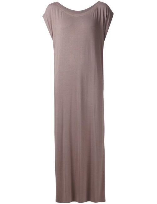 LIWAN   Женское Коричневое Длинное Платье С Разрезами По Бокам