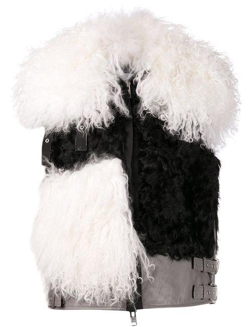 Sacai | Женский Чёрный Жилет С Контрастными Панелями