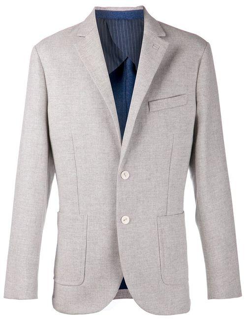LORENZ BACH   Мужская Серая Классическая Куртка