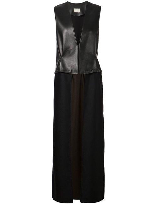 SABINE LUISE | Женская Черный Длинная Жилетка С Панельным Дизайном