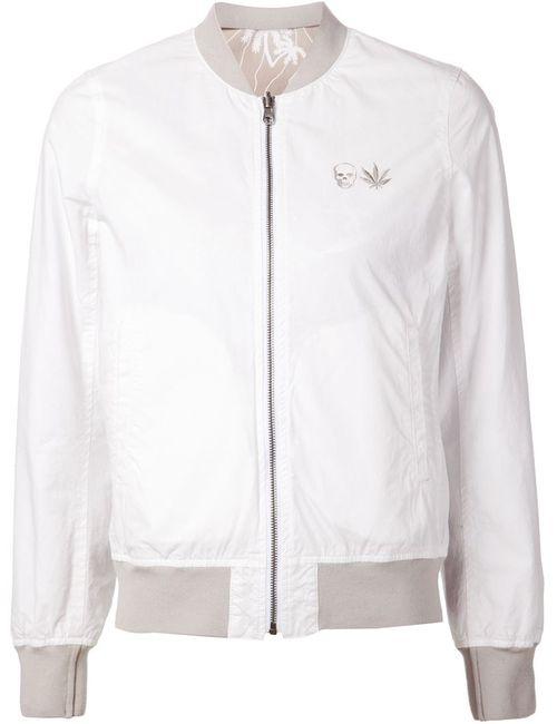 Lucien Pellat-Finet | Женская Белая Куртка-Бомбер С Вышивкой