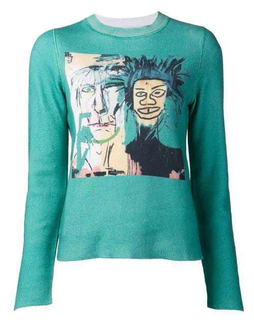 Lucien Pellat-Finet | Женский Зелёный Джемпер Jean-Michel Basquiat