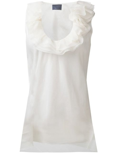 Lanvin | Женское Белый Ruffled Collar Top