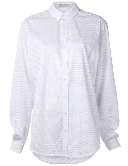 PIECE D ANARCHIVE | Женская Белая Рубашка Свободного Кроя