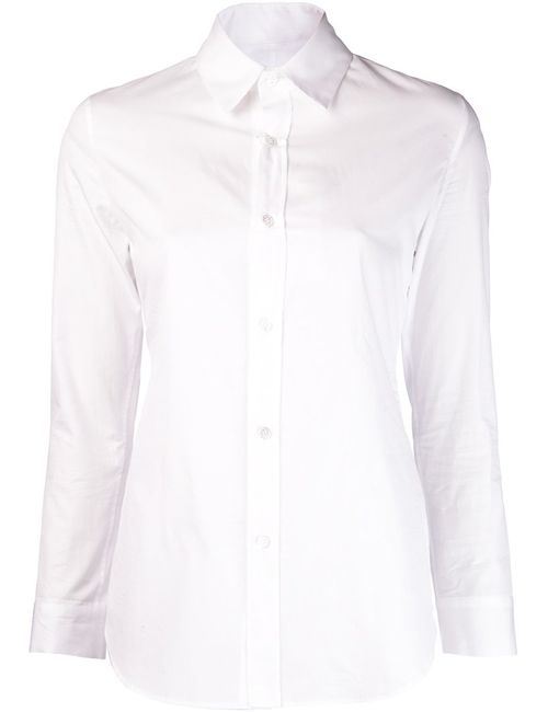 Yohji Yamamoto | Женское Белый Cotton Slim Fit Shirt From Featuring A