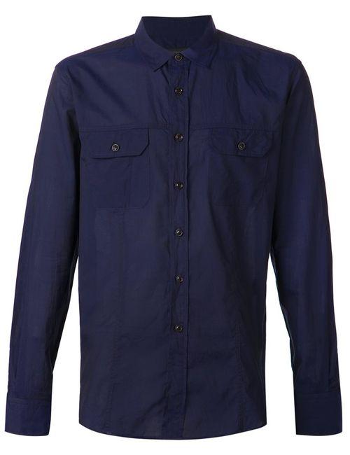Ann Demeulemeester | Мужская Синяя Рубашка С Нагрудными Карманами