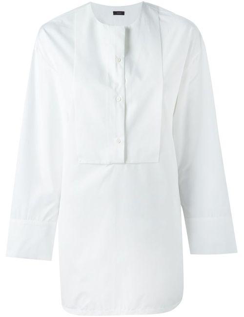 Joseph | Женская Белая Удлиненная Рубашка С Нагрудником