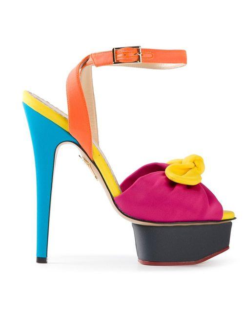 Charlotte Olympia | Женские Многоцветные Босоножки Serena На Платформе