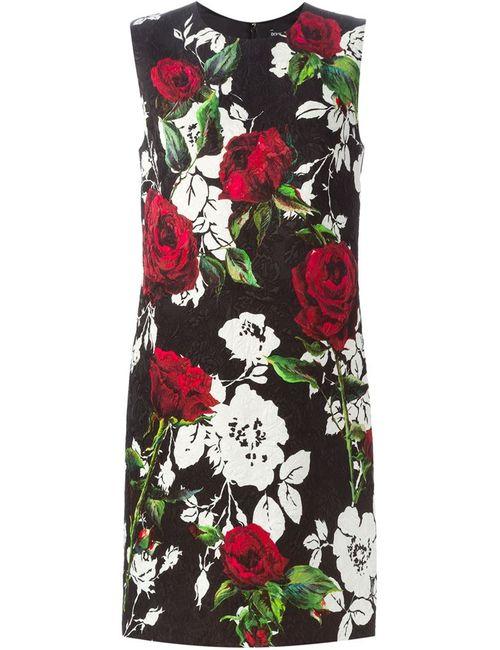 Dolce & Gabbana | Женское Чёрный Print Brocade Dress