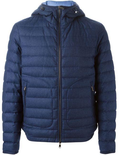 Moncler | Мужская Синяя Дутая Куртка Blanchard