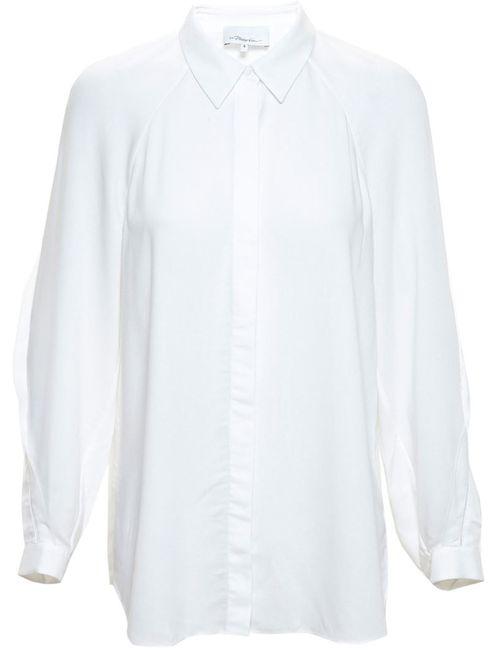 3.1 Phillip Lim   Женское Белый Shirt With Fringe Detailing