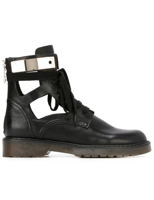 See By Chloe | Женские Чёрные Армейские Ботинки С Вырезными Деталями