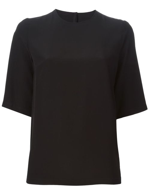 Dolce & Gabbana | Женская Чёрная Блузка С Короткими Рукавами