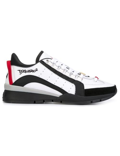 Dsquared2 | Мужское Белый Striped Sneakers