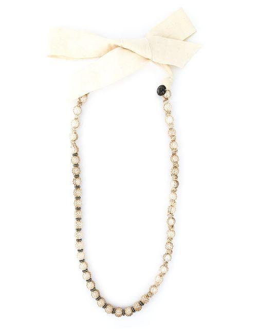 Lanvin | Женское Длинное Ожерелье Из Искусственного Жемчуга