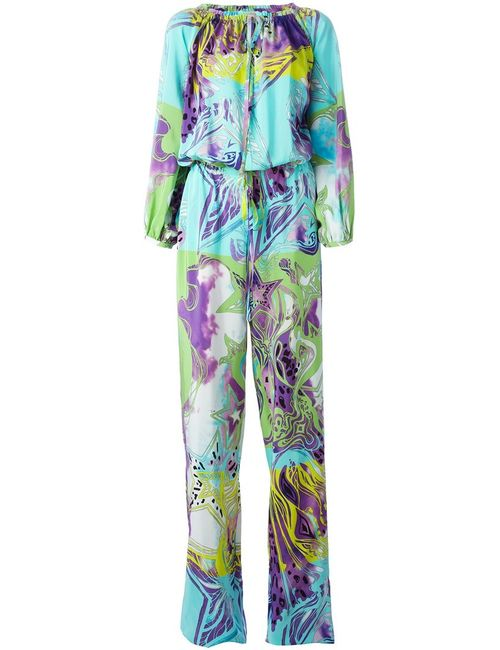 Emilio Pucci | Женское Multicoloured Silk Abstract Print Jumpsuit From