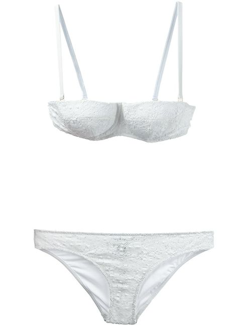 Dolce & Gabbana | Женское Stretch Cotton Blend Broderie Anglaise Bikini From