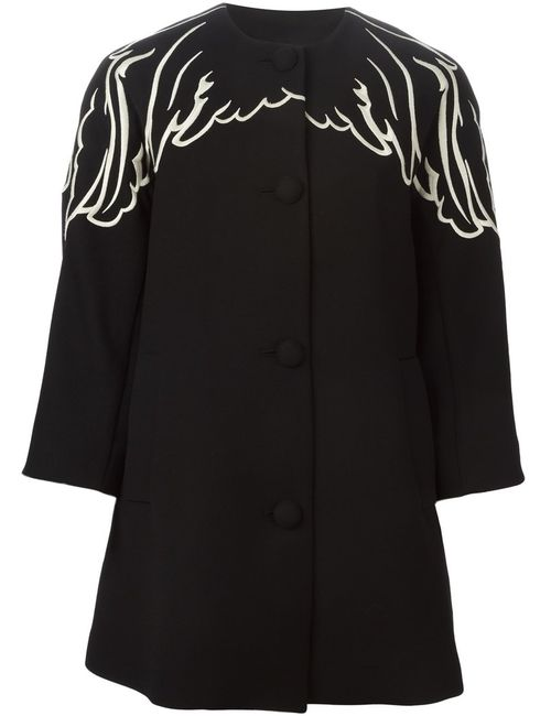 Red Valentino | Женское And Virgin Wool Embroidered Wing Coat From