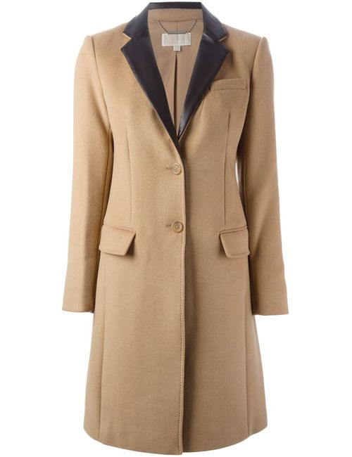 Michael Michael Kors | Женское Nude & Neutrals Пальто С Кожаными Лацканами