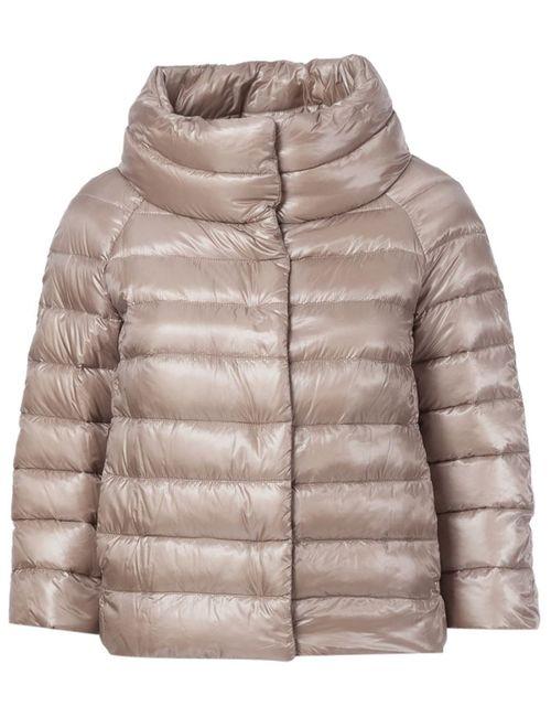 Herno | Женская Розовая Дутая Куртка С Высоким Воротником
