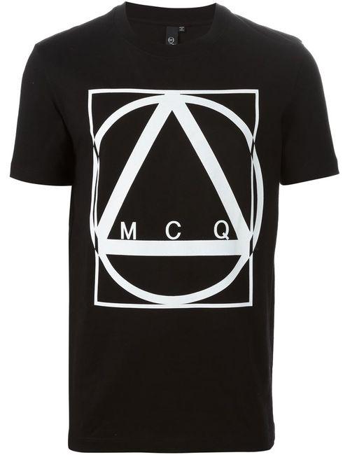 Mcq Alexander Mcqueen | Мужская Чёрная Футболка С Принтом Geo
