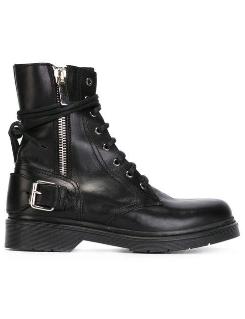 Diesel Black Gold | Женские Чёрные Ботинки Steady