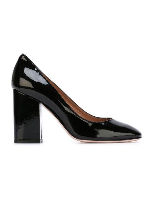 Red Valentino | Женские Чёрные Туфли На Массивном Каблуке