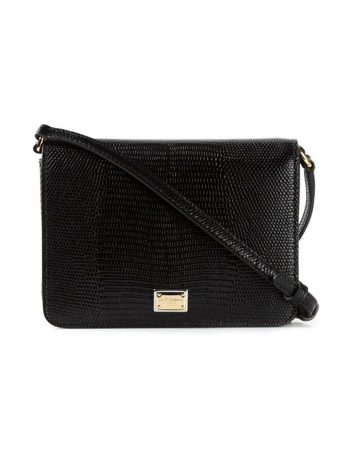 Dolce & Gabbana | Женское Черный Calf Leather Small Flap Crossbody Bag From
