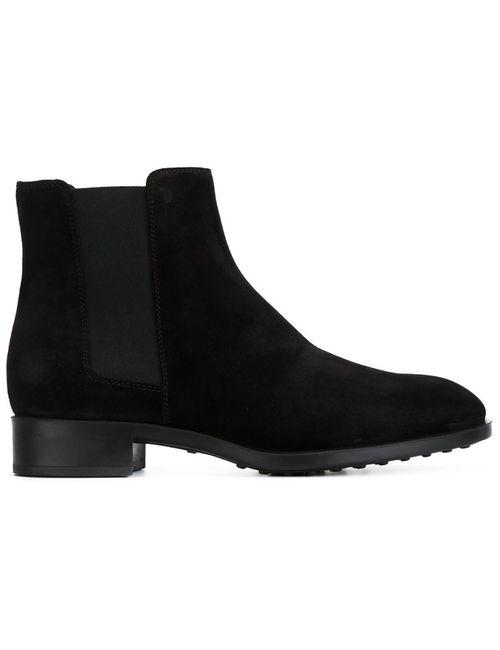 Tod'S | Женские Чёрные Ботинки-Челси