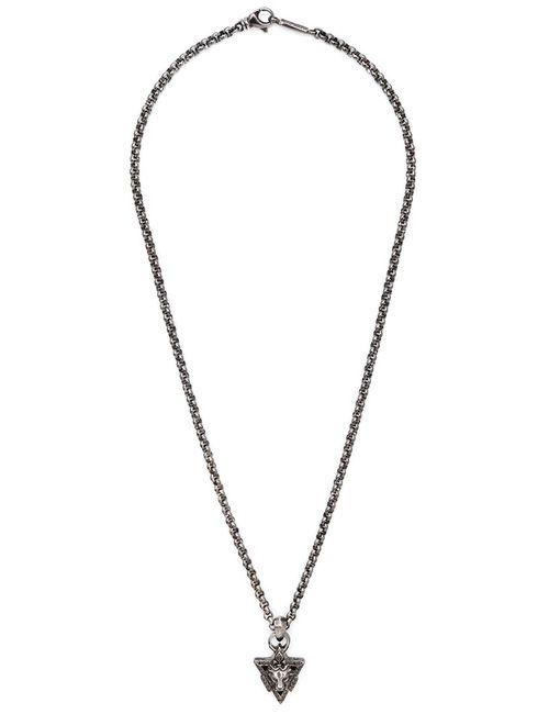 ROMAN PAUL | Мужское Серый Lion Pendant Necklace From
