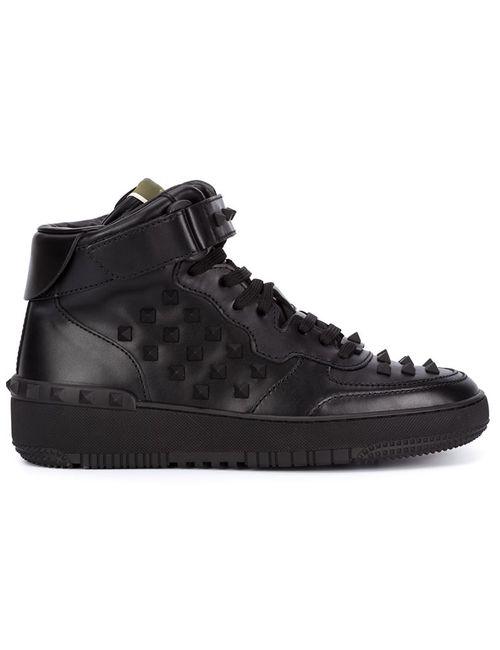 Valentino Garavani | Мужское Чёрный Rockrunner Hi-Top Sneakers