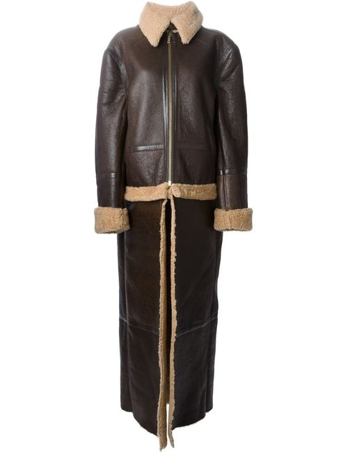 VETEMENTS | Женское Shearling Detachable Layer Aviator Coat From