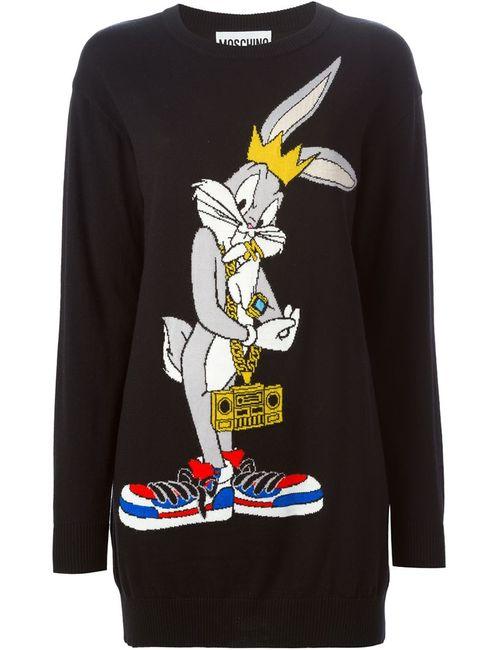 Moschino | Женский Чёрный Свитер Bugs Bunny