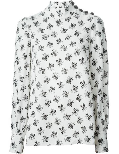 Dolce & Gabbana | Женская Белая Блузка С Цветочным Узором