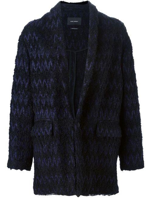 Isabel Marant | Женское Чёрное Пальто С Узором Шеврон