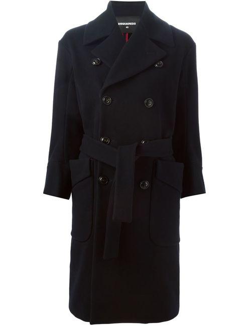 Dsquared2 | Женское Синее Двубортное Пальто