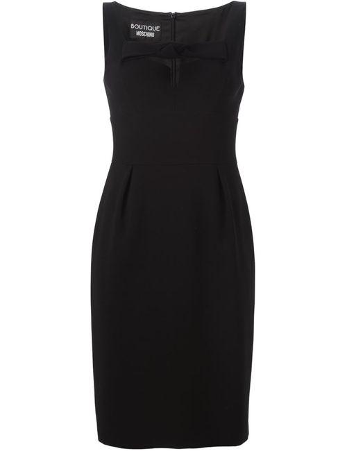 BOUTIQUE MOSCHINO | Женское Черный Приталенное Платье С Бантом