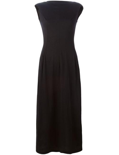 YOHJI YAMAMOTO VINTAGE | Женское Чёрный Fitted Boatneck Dress