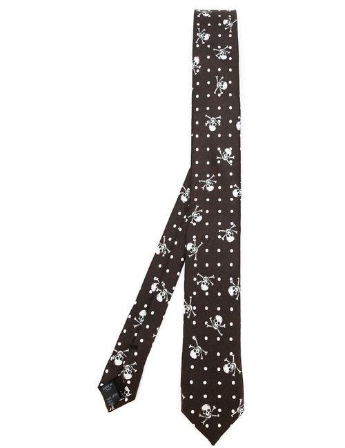 Dolce & Gabbana | Мужское Коричневый Skull Cross Bone Print Tie