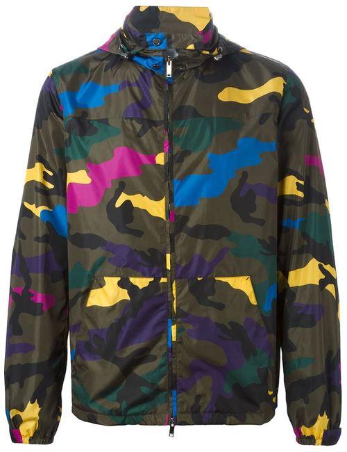 Valentino | Мужское Зелёный Camouflage Jacket