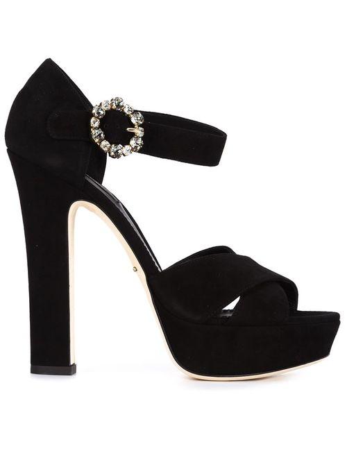 Dolce & Gabbana | Женские Чёрные Босоножки На Платформе