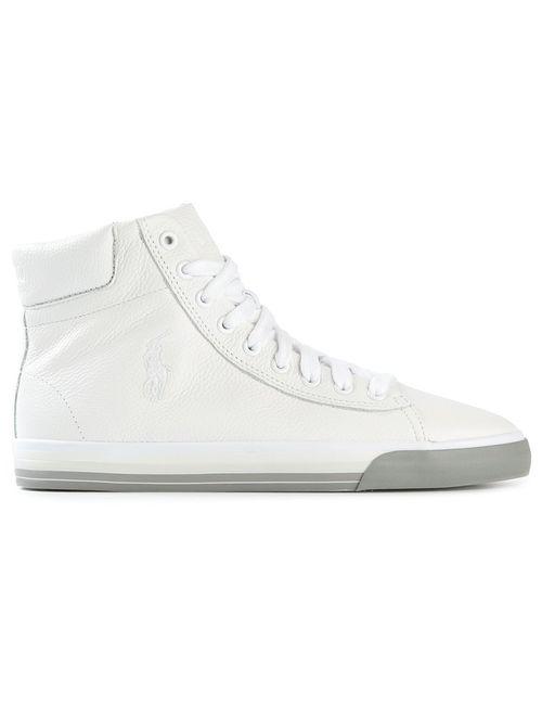 Polo Ralph Lauren | Мужские Белые Высокие Кеды